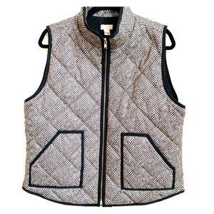 Women's J Crew herringbone vest. NWOT.
